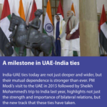 India & UAE stepping forward to an agreement on Comprehensive Strategic Partnership