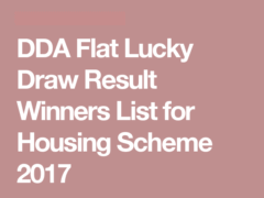 DDA Housing Scheme Result 2017