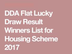 DDA Housing Scheme Result 2017