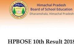 HP Board 10 Class result 2018