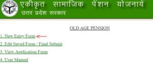 Old Age Pension UP Online Application Form
